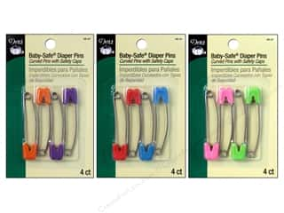 Bright Quilting Notions: Baby-Safe Diaper Pins by Dritz Assorted Brights 4 pc.
