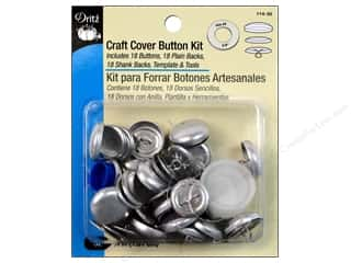 Sewing & Quilting Buttons: Cover Button Kit by Dritz Craft 3/4 in. 18 pc.
