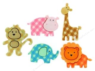 Jesse James Buttons Animals: Jesse James Dress It Up Embellishments Baby Safari