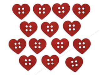 Jesse James Embellishments Sew Cute Red Hearts