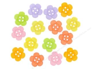 Craft Embellishments Flowers: Jesse James Dress It Up Embellishments Sew Cute Sherbert Flowers