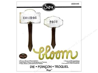 Gardening & Patio Scrapbooking & Paper Crafts: Sizzix Bigz Die Phrase Bloom & Plant Markers by Eileen Hull