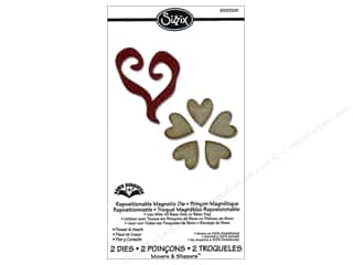 Dies Hearts: Sizzix Movers & Shapers Magnetic Die Set 2PK Flower & Heart by Karen Burniston