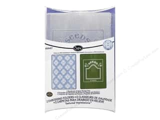 Gardening & Patio Framing: Sizzix Embossing Folders Eileen Hull Textured Impressions Rosebuds & Seed Packet
