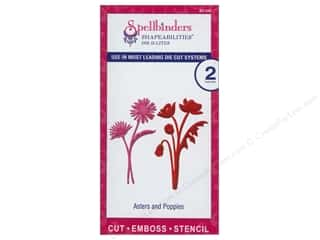 Spellbinders Flowers: Spellbinders Shapeabilities Die D-Lites Asters & Poppies
