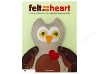 Design Originals $8 - $9: Design Originals Felt From the Heart Book by Ana Araujo