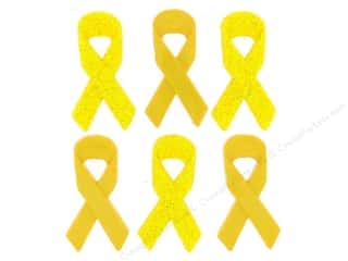 Jesse James Embellishments Awareness Ribbons Yellow