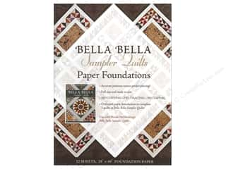 Sewing & Quilting paper dimensions: C&T Publishing Bella Bella Sampler Quilts Paper Foundations