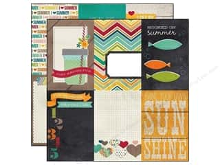 Simple Stories Paper 12x12 I Heart Summer JrnlVert (25 piece)