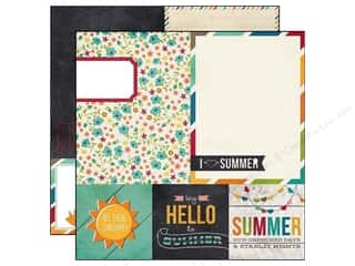 Simple Stories Paper 12x12 I Heart Summer Quot/Mat (25 piece)