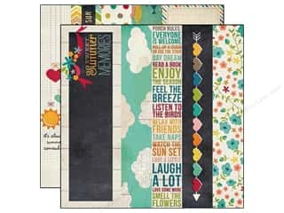 Simple Stories Paper 12x12 I Heart Summer Bdr/Titl (25 piece)