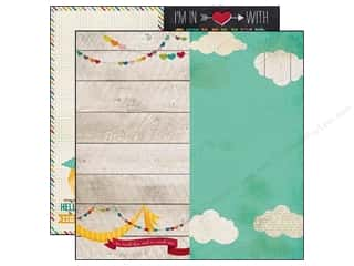 Simple Stories Paper 12x12 I Heart Summer PageElem (25 piece)