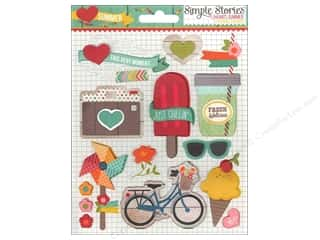 Simple Stories Sticker Layered I Heart Summer