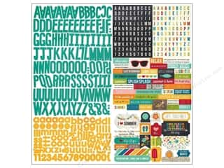 alphabet stickers: Simple Stories Sticker I Heart Summer Expressions