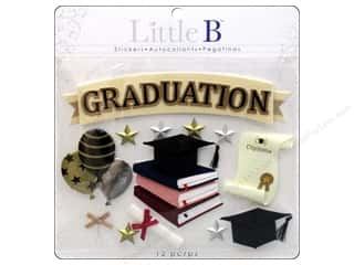 Graduations Black: Little B Sticker Large Graduation