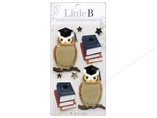 School paper dimensions: Little B Sticker Medium Graduation Owl