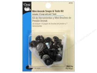 Mini Anorak Snaps & Tools Kit by Dritz Black Oxy 10 pc.