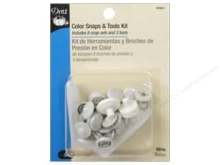 Dritz Sewing Kit: Color Snaps & Tools Kit by Dritz 1/2 in. White 8 pc.