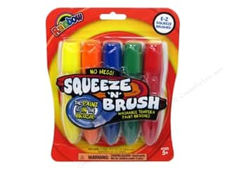 Elmer's Blue: Elmer's Paint Squeeze N Brush Set Rainbow 5pc