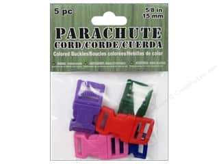 Cording $5 - $6: Pepperell Parachute Cord Buckle 5/8 in. Assorted 5 pc.