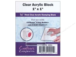 Crafter's Companion Rubber Stamp: Crafter's Companion Acrylic Block Square 1 x 1 in.