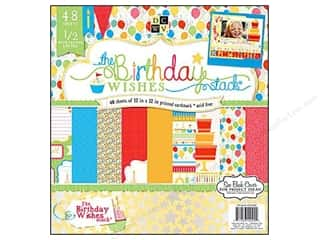 2013 Crafties - Best Scrapbooking Supply DieCuts Paper Stacks: Die Cuts 12 x 12 in. Paper Stack Birthday Wishes