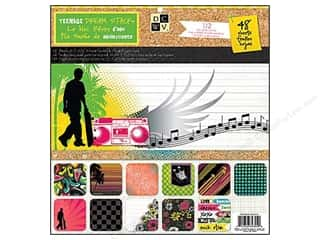 Clearance Die Cuts with a View Stacks: Die Cuts 12 x 12 in. Paper Stack Teenage Dreams