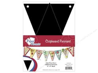 Chipboard Pennants 6 x 9 in. 9pc. Black