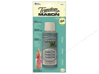 Glass Loew Cornell Transform Mason Paint: Loew Cornell Transform Mason Paint 4 oz. Frosting