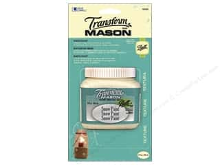 Glass Loew Cornell Transform Mason Paint: Loew Cornell Transform Mason Paint 8 oz. Snow