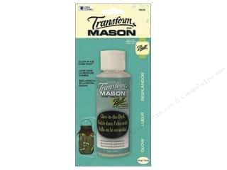 Glass Loew Cornell Transform Mason Paint: Loew Cornell Transform Mason Paint 4 oz. Glow in Dark