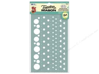 Weekly Specials Gallery Glass: Loew Cornell Transform Mason Silk Screen Stencil Dots & Hearts