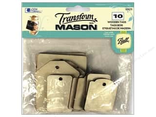 Ball Jars inches: Loew Cornell Transform Mason Wooden Tags 10 pc. Rectangles