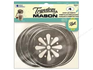 Weekly Specials Gallery Glass: Transform Mason Lid Inserts 4 pc. Daisy