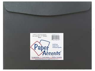 Envelopes Black: 9 1/2 x 12 1/2 in. Envelopes by Paper Accents 4 pc. #127 Black