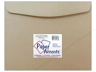 envelopes: 9 1/2 x 12 1/2 in. Envelopes by Paper Accents 4 pc. #357 Brown Bag