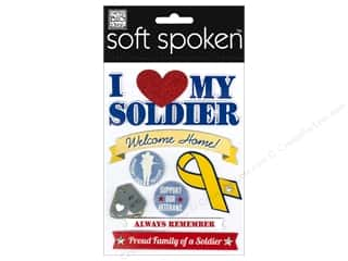 2013 Crafties - Best Adhesive: MAMBI Sticker Soft Spoken I Heart My Soldier