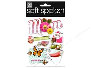 Mother's Day Stamps: Me&My Big Ideas Sticker Soft Spoken Mom So Special