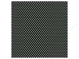 MAMBI Paper 12x12 Cdstk Paw Prints Black White (15 piece)