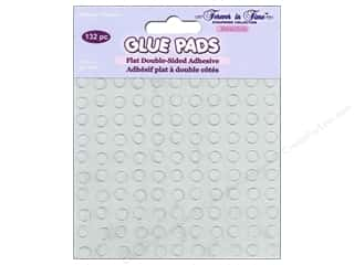 Multicraft Glue Pads Round 1/4 in. Clear 132 pc.