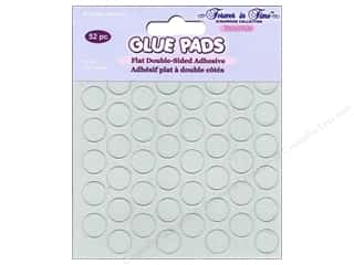 Glues/Adhesives Multicraft Adhesive: Multicraft Adhesive Glue Pads Round 1/2 in. Clear 52 pc.