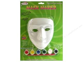 Decorative Masks Red: Multicraft Krafty Kids Mask Maker Female Paint & Brush