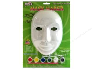 Decorative Masks Red: Multicraft Krafty Kids Mask Maker Male Paint & Brush