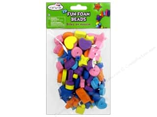 Craft Medley Fun Foam Beads Large Assorted 132 pc.