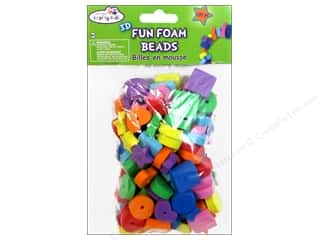 Craft Medley Fun Foam Beads Medium Assorted 128 pc.