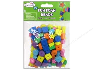 Craft Medley Fun Foam Beads Small Assorted 176 pc.