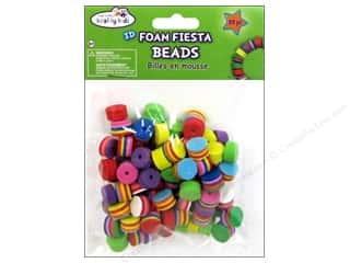 Kids Crafts Foam: Craft Medley Fun Foam Beads Round Assorted Fiesta 88 pc.