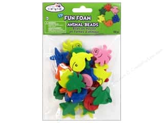 Craft Medley Fun Foam Beads Assorted Animal Sea Life