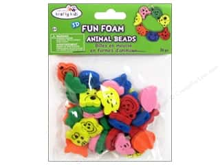 Animals Craft & Hobbies: Craft Medley Fun Foam Beads Assorted Animal Head