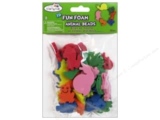 Basic Components Everything You Love Sale: Craft Medley Fun Foam Beads Assorted Animal Pals